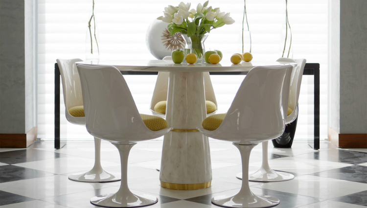 white white dining table White Dining Tables For an Elegant Dining Room agra1