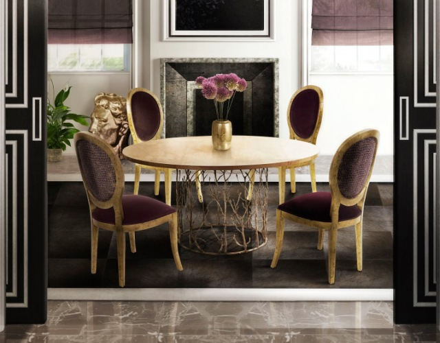 modern dining table dining table 14 Modern Dining Tables To Be Inspired By enchanted