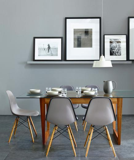 modern dining modern dining Modern Dining - Keeping it Simple grey photo ledge gal