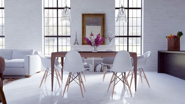 loft-dining-room-design-600x338 scandinavian 15 Scandinavian Dining Tables loft dining room design