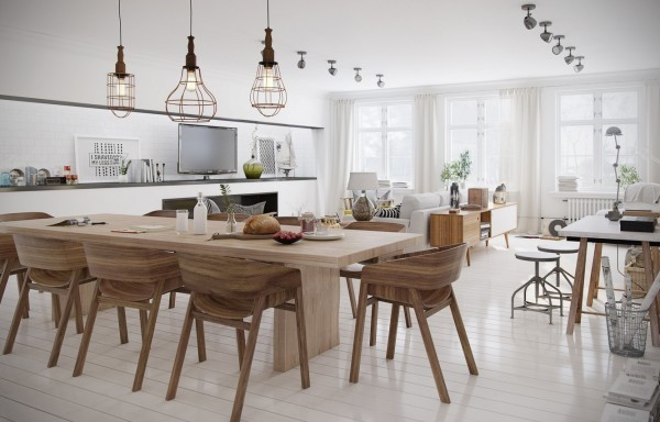 scandinavian scandinavian 15 Scandinavian Dining Tables polished wood floors