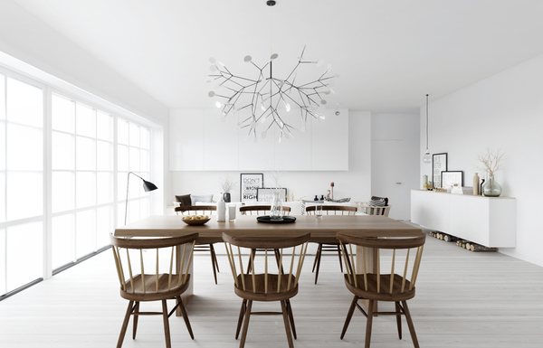 wood-dowel-chairs scandinavian 15 Scandinavian Dining Tables wood dowel chairs
