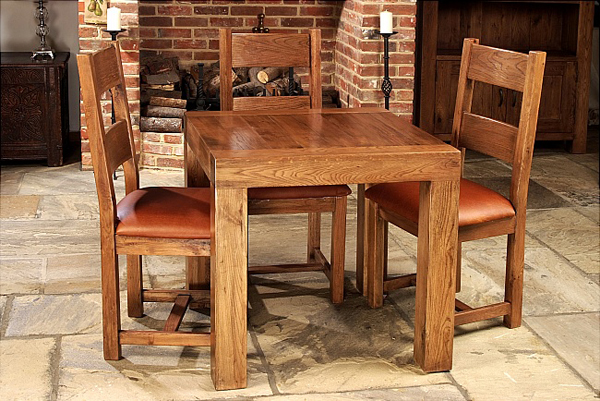 square oak dining tables
