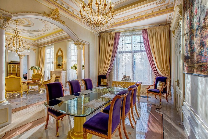 Purple Dining Room Walls