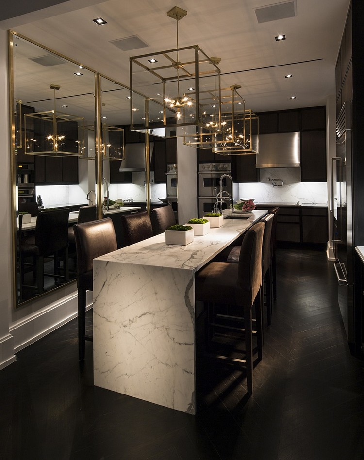 Luxury dining tables ideas for Modern luxury kitchen designs
