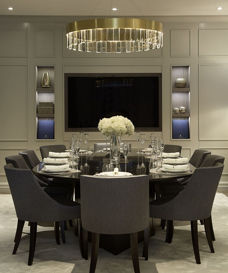 luxury dining tables luxury dining tables Luxury Dining Tables Ideas With floral oversized chairs and subtle splashes of olive this gorgeous luxury dining table is ideal for entertaining small gatherings