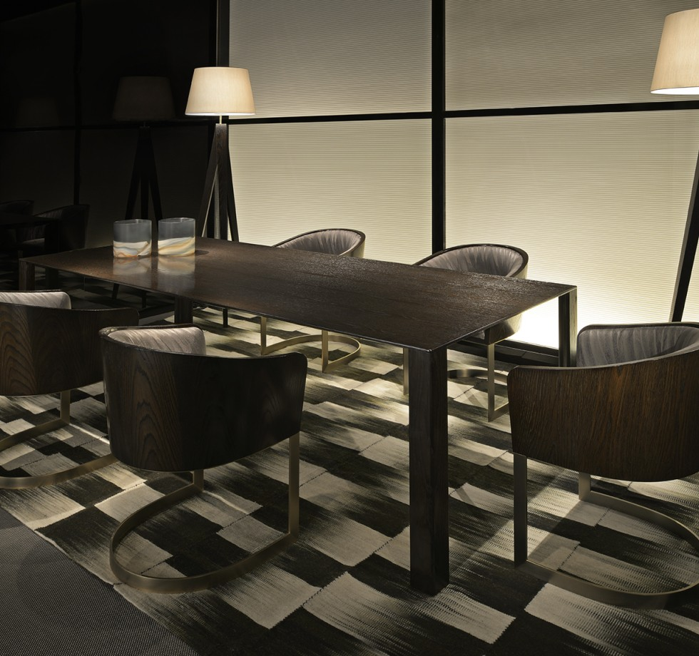 armani house luxury brands 10 Outstanding Dining Room Tables by Top Luxury Brands armani