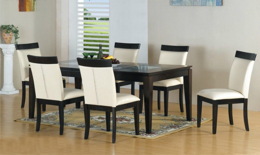 White Leather Dining Chairs White Leather Dining Chairs The Most Sophisticated White Leather Dining Chairs elegant rectangular area carpet plus black wooden cabinets and simple white leather dining chairs