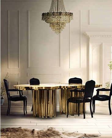 dining rooms dining rooms 10 Audacious Dining Rooms for Contemporary Interiors fortuna gold 07