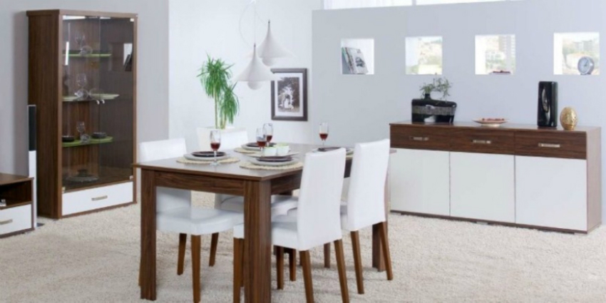 modern-sideboard-design-feat-rectangular-table-and-elegant-white-leather-dining-chairs-with-wooden-legs White Leather Dining Chairs The Most Sophisticated White Leather Dining Chairs modern sideboard design feat rectangular table and elegant white leather dining chairs with wooden legs