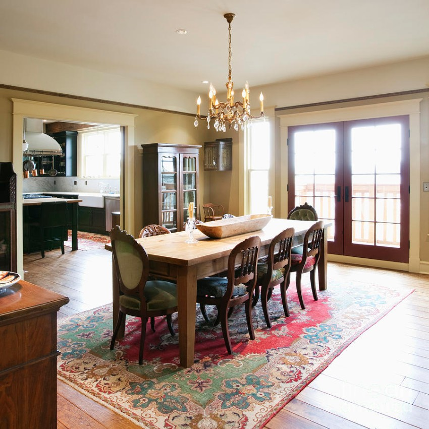 Rug Rugs That Will Improve Your Dining Room Experience Pretty Red Oriental Paired With