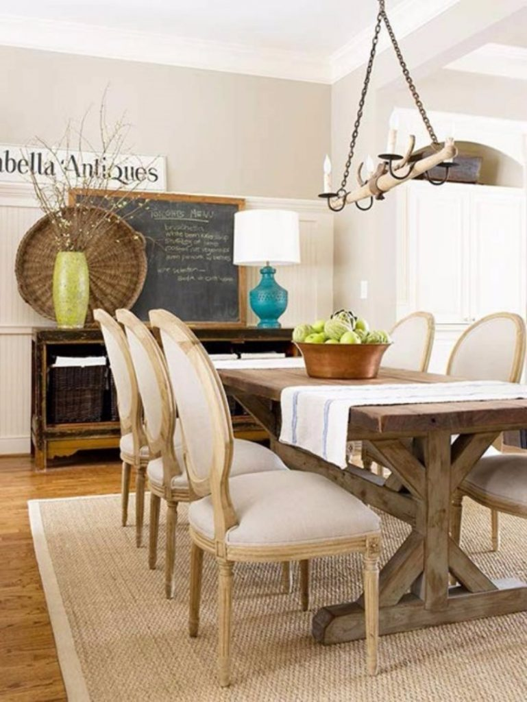 sisal-rug-french-chairs-bhg rug Rugs That Will Improve Your Dining Room Experience sisal rug french chairs bhg