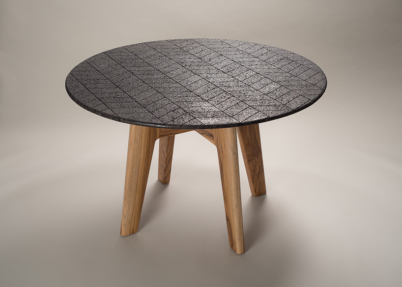 volcanic rock volcanic rock Volcanic Rock Dining Table by Peca Studio 1