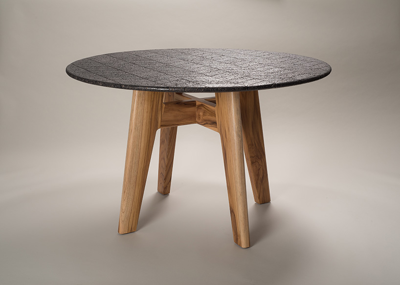 2 volcanic rock Volcanic Rock Dining Table by Peca Studio 2