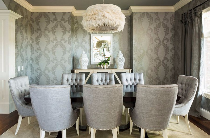 gray dining room The Finest Gray Dining Rooms for your House 25 y tuong cho phong an mau xam thanh lich va tinh te 13
