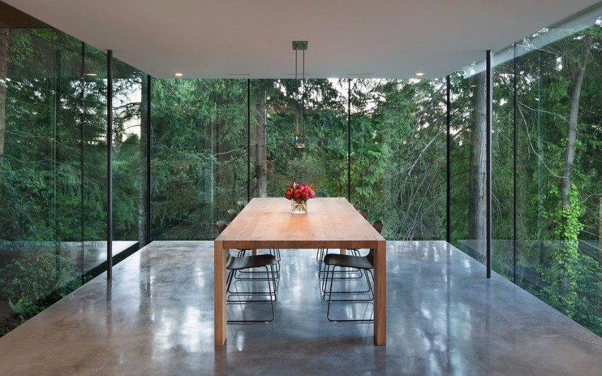 minimalist dining room 15 Minimalist Dining Room Ideas: Decoration Tips for Clean Interiors Glass dining room table dining room modern with wooden dining table