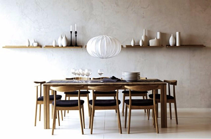 15 minimalist dining room ideas decoration tips for clean for Modern dinning room table