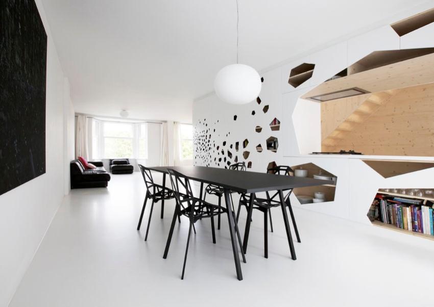 minimalist dining room 15 Minimalist Dining Room Ideas: Decoration Tips for Clean Interiors home 07 geometria spod skalpelamain