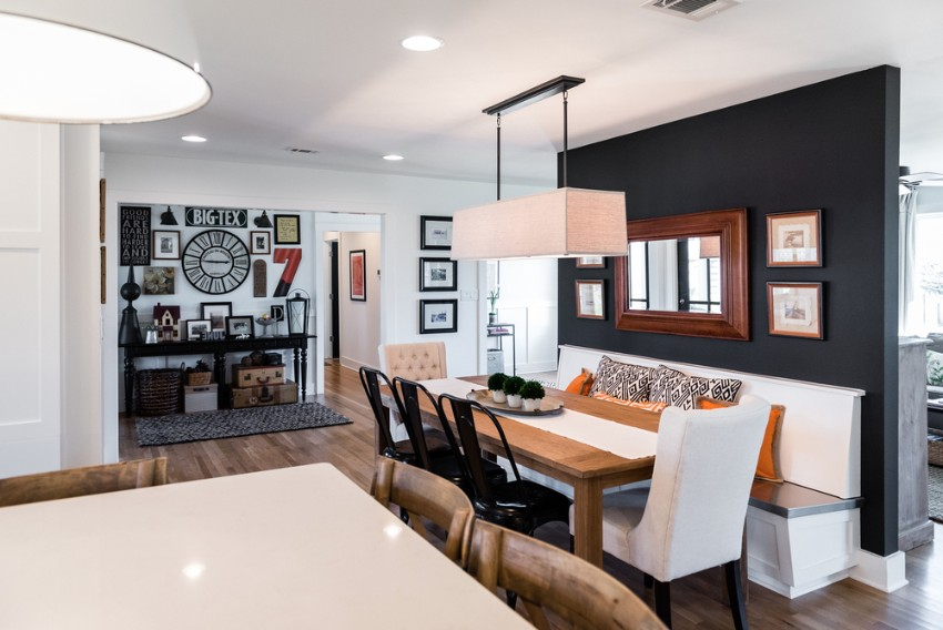 black accent wall black accent wall 10 Black Accent Walls Dining Rooms 1 22 2016 jbb remodel 4794