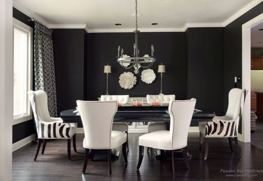 black dining room 10 Trendy Black Dining Rooms 12123