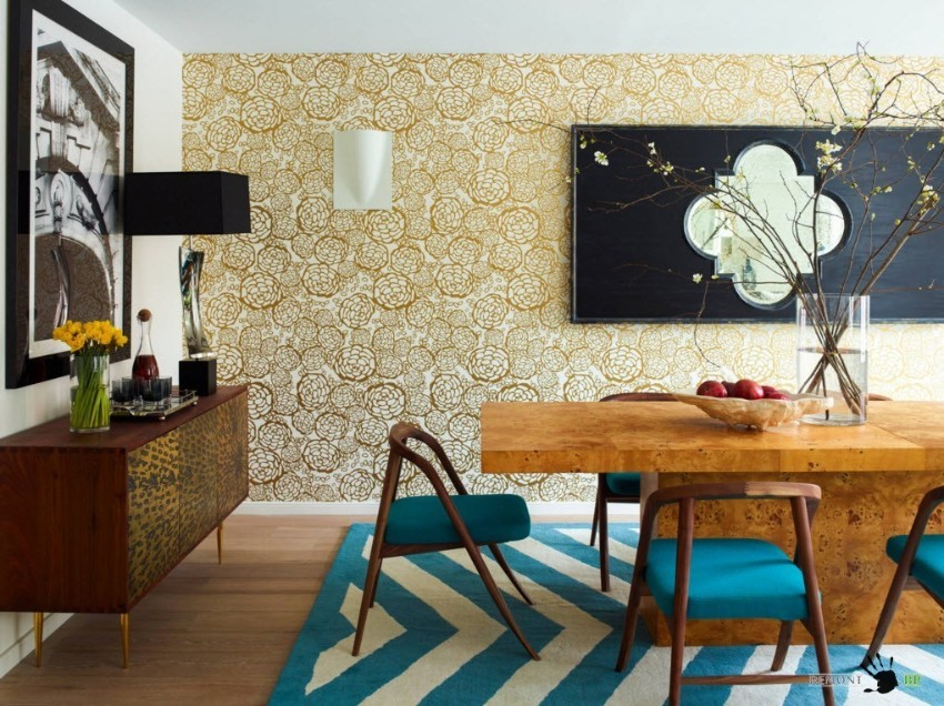 wallpaper How to Decorate the Dining Room with a Dazzling Wallpaper 2817