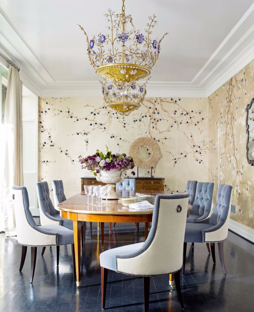 Chandelier 30 Modern Dining Rooms With Magnificent Chandeliers  54c183faceb99 05 Hbx French Vintage Chandelier 0512 S2