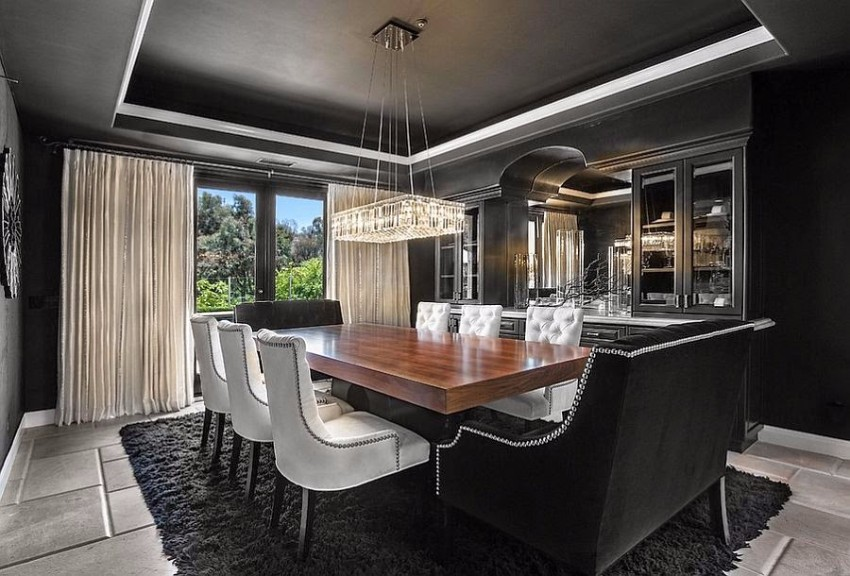 black dining room 10 Trendy Black Dining Rooms 760