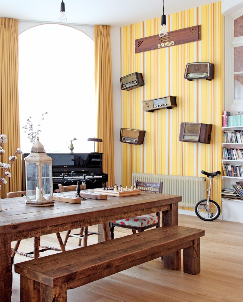 wallpaper How to Decorate the Dining Room with a Dazzling Wallpaper Colourful living room by Avocado Sweets