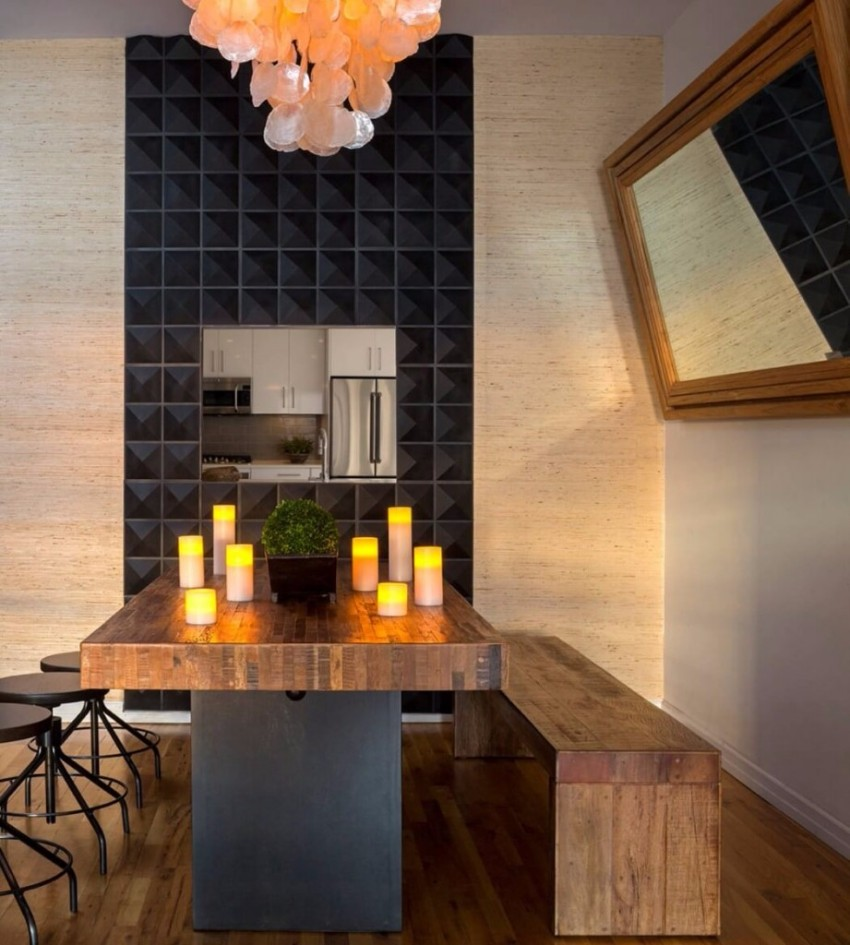 black accent wall 10 Black Accent Walls Dining Rooms Desain Interior Simple untuk Pria Single5
