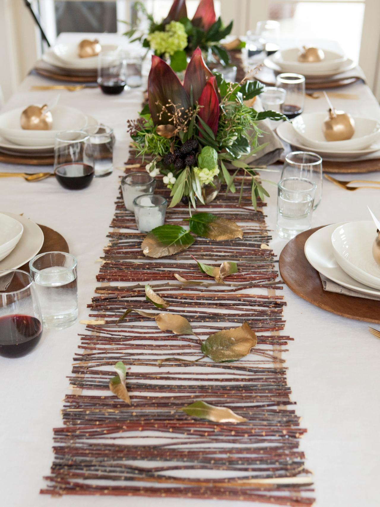 table runner The Finest Table Runners for your Dining Table Earthy twig table runner