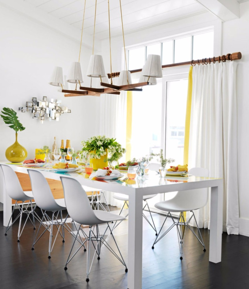 chandelier 30 Modern Dining Rooms with Magnificent Chandeliers Modern white pendants 900x1200