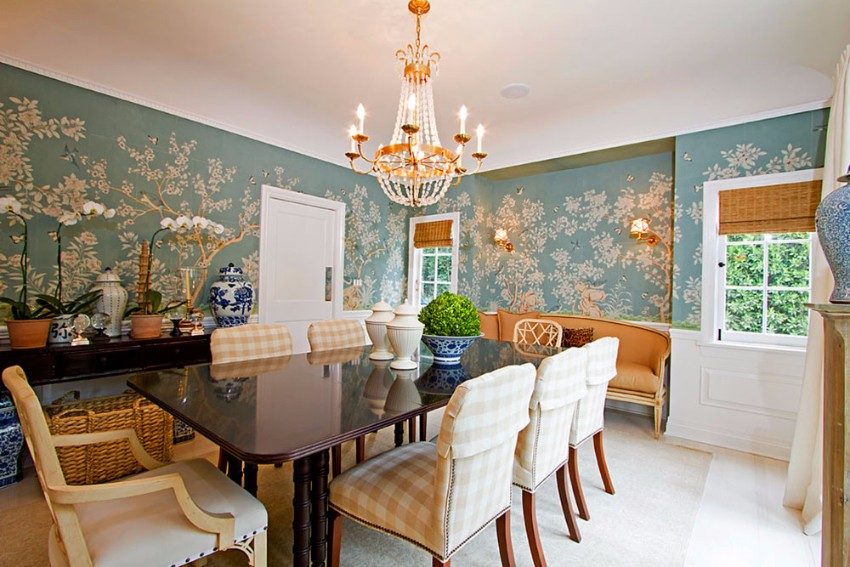 wallpaper How to Decorate the Dining Room with a Dazzling Wallpaper Plaid Home Decor For Everyone7