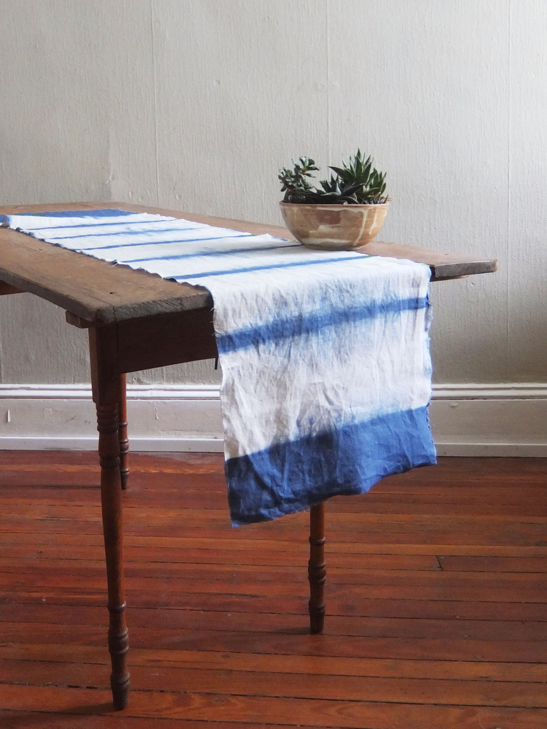 table runner The Finest Table Runners for your Dining Table Shibori table runner from Flora Poste Studio