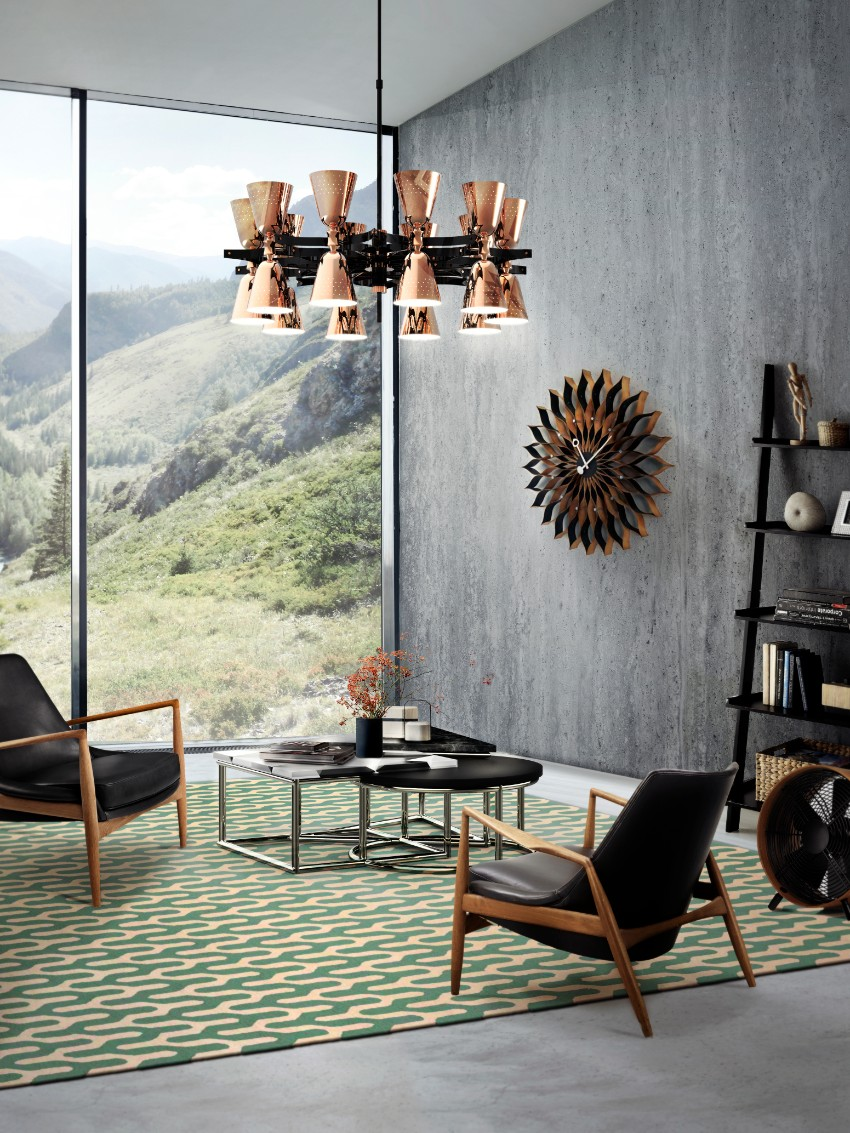 chandelier 30 Modern Dining Rooms with Magnificent Chandeliers delightfull charles architectural round ceiling fixture multi light fifties copper chandelier 04 1