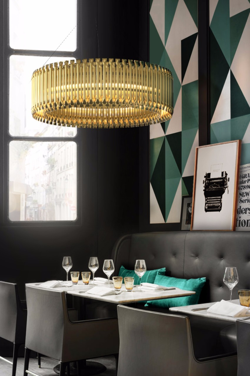 chandelier 30 Modern Dining Rooms with Magnificent Chandeliers delightfull matheny 01