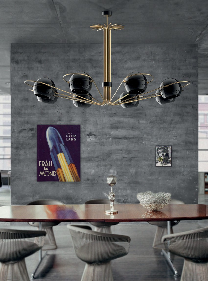chandelier 30 Modern Dining Rooms with Magnificent Chandeliers delightfull neil 01
