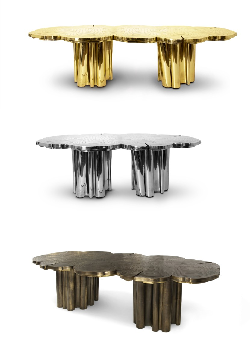 fortuna dining table Fortuna Dining Table: a Shimmering Golden Piece for your Dining Room fortuna dining table by boca do lobo 1