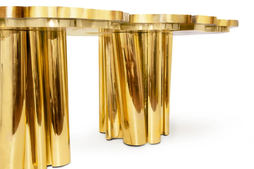 fortuna dining table Fortuna Dining Table: a Shimmering Golden Piece for your Dining Room fortuna dining table by boca do lobo 2