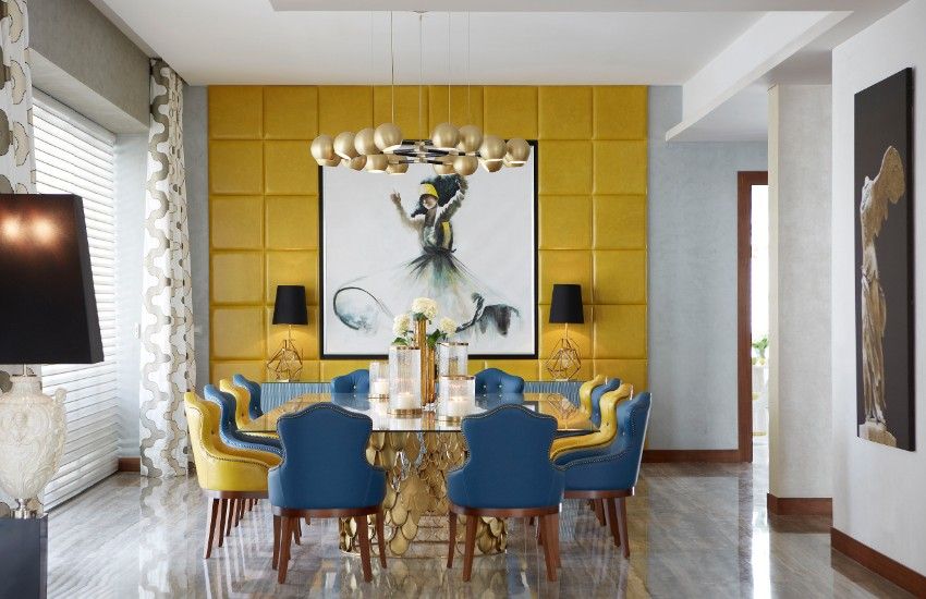 chandelier 30 Modern Dining Rooms with Magnificent Chandeliers horus brabbu