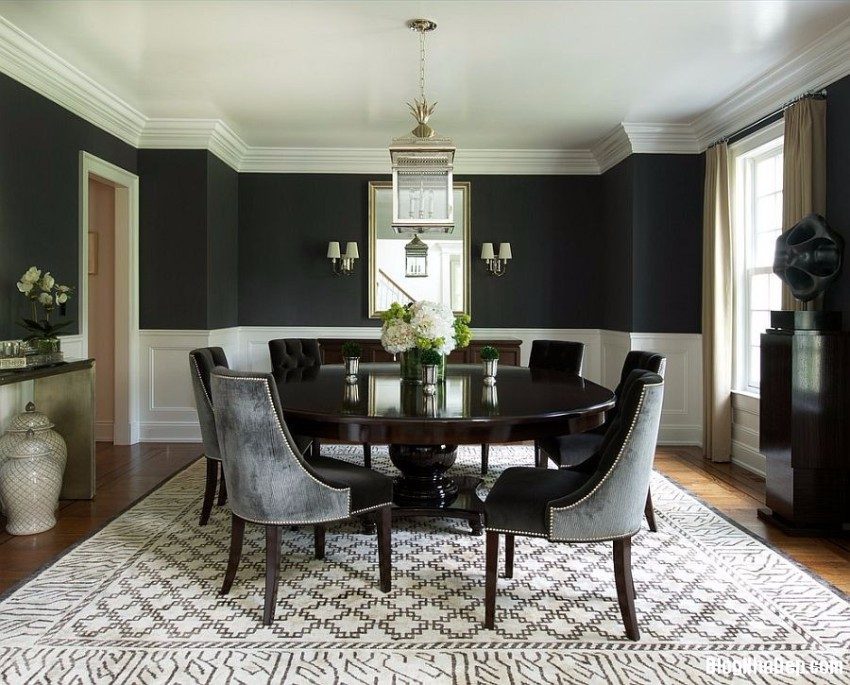 black dining room black dining room 10 Trendy Black Dining Rooms mau den 5 1426845524