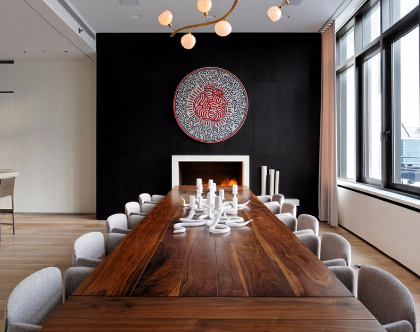 black accent wall black accent wall 10 Black Accent Walls Dining Rooms mur accent noir4