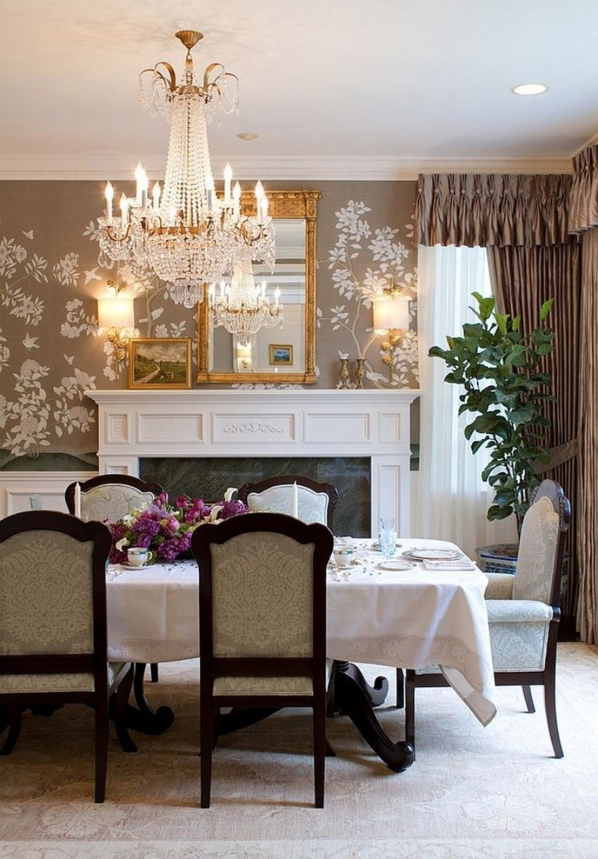 wallpaper How to Decorate the Dining Room with a Dazzling Wallpaper papel para paredes acento precioso comedor
