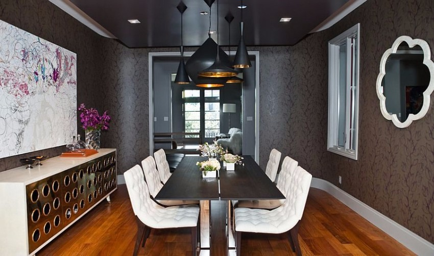 black dining room black dining room 10 Trendy Black Dining Rooms phong an 3