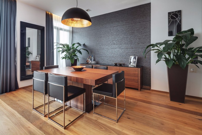 black accent wall black accent wall 10 Black Accent Walls Dining Rooms the z apartment by studio 1408 o