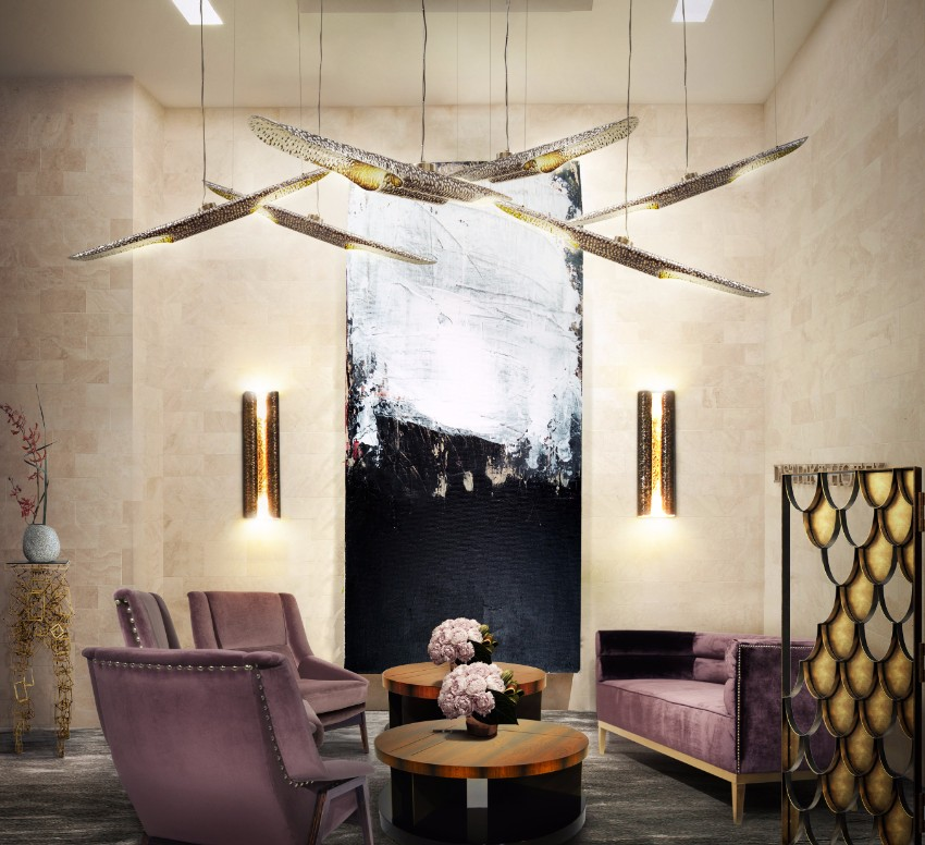 chandelier 30 Modern Dining Rooms with Magnificent Chandeliers vellum brabbu 1