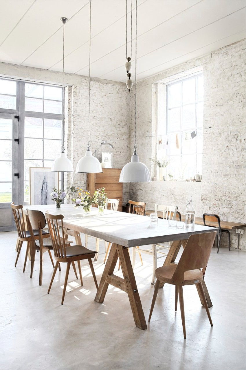 white 10 Contemporary White Dining Rooms 118