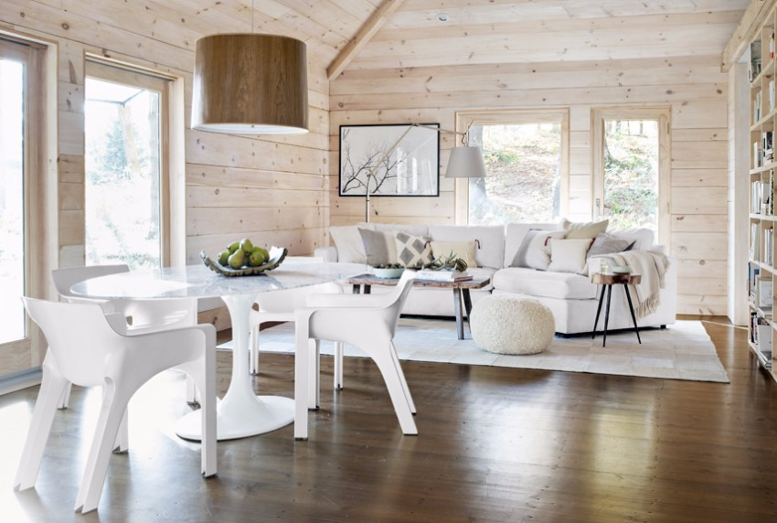 white 10 Contemporary White Dining Rooms 54eb5bf193b30   pure and simple marble table 0213 xln