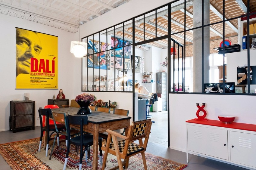 industrial 10 Ways to Create a Stylish Industrial Dining Room 79032 Vach ngan kinh thiet ke thong minh cho can ho chat hep 2
