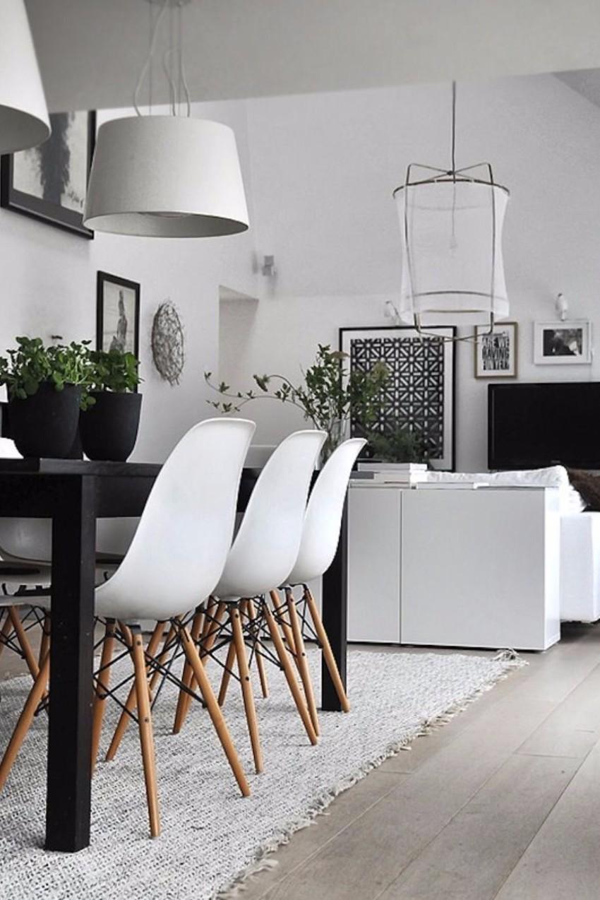 white 10 Contemporary White Dining Rooms Cuisine blackandwhite