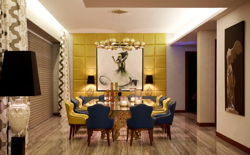 suspension lamp 10 Sophisticated Suspension Lamps For Your Dining Room Emirates Hills villa 3 HR resize